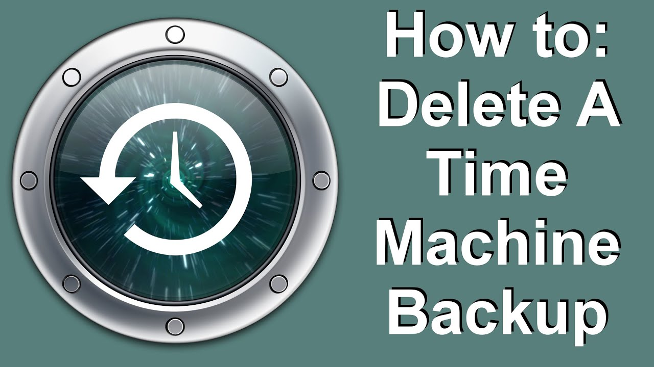 How to Delete A Time Machine Backup