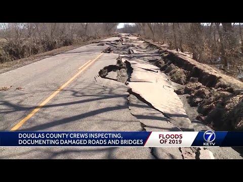 Damaged roads, bridges in Douglas County