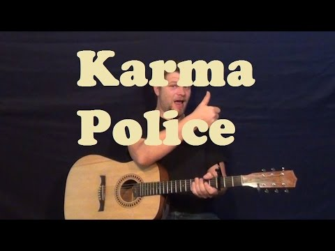Karma Police (Radiohead) Easy Strum Guitar Lesson How to Play Karma Police Tutorial