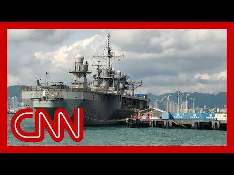 China bans US military visits to Hong Kong over protest support