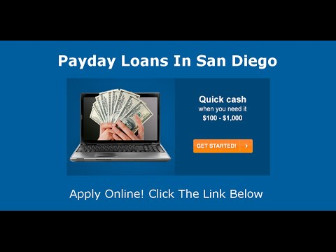 san diego payday loans from YouTube · Duration:  26 seconds  · uploaded on 1/9/2016 · uploaded by Elizabeth Goldenberg