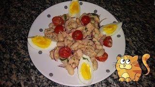 Салат с Тунцом и Консервированной Фасолью  Домашний ресторан Juliaidea