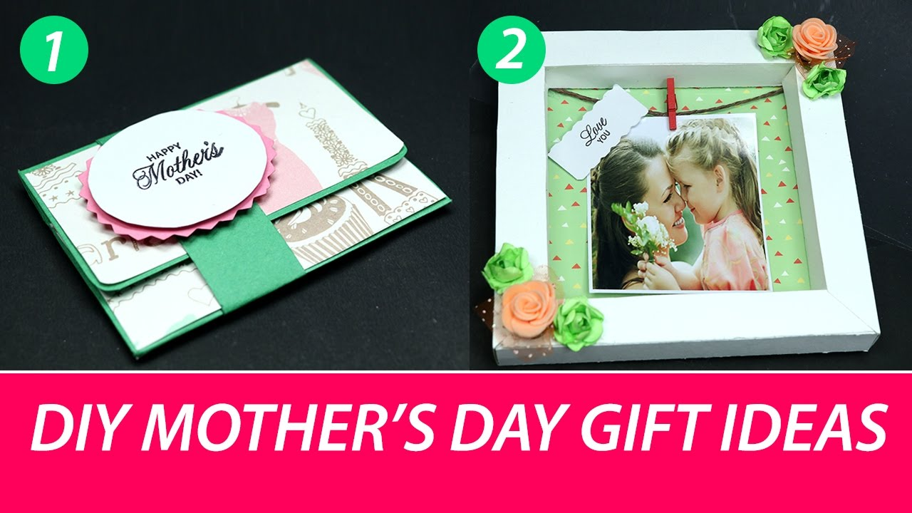 Mothers Day Craft: DIY Mothers Day Gift Ideas (Shadow Box Photo ...