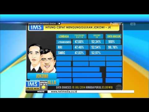 Update Hasil Audit Lembaga Survei Hitung Cepat Pilpres 2014 - IMS