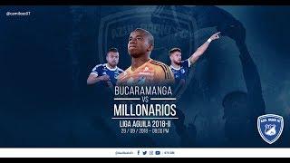 Bucaramanga vs. Millonarios, fecha 12, Liga Águila 2018-2