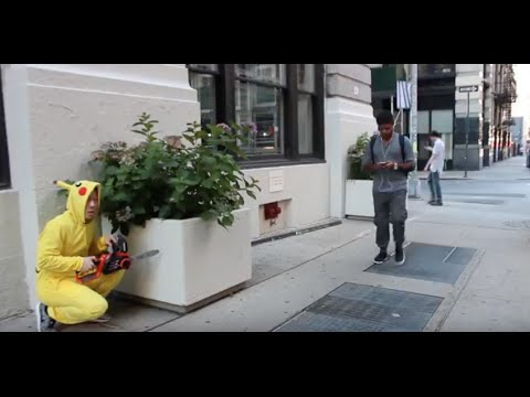 How To Catch A Wild Pikachu Pokemon Go Prank (I Almost Got Shot) | QPark