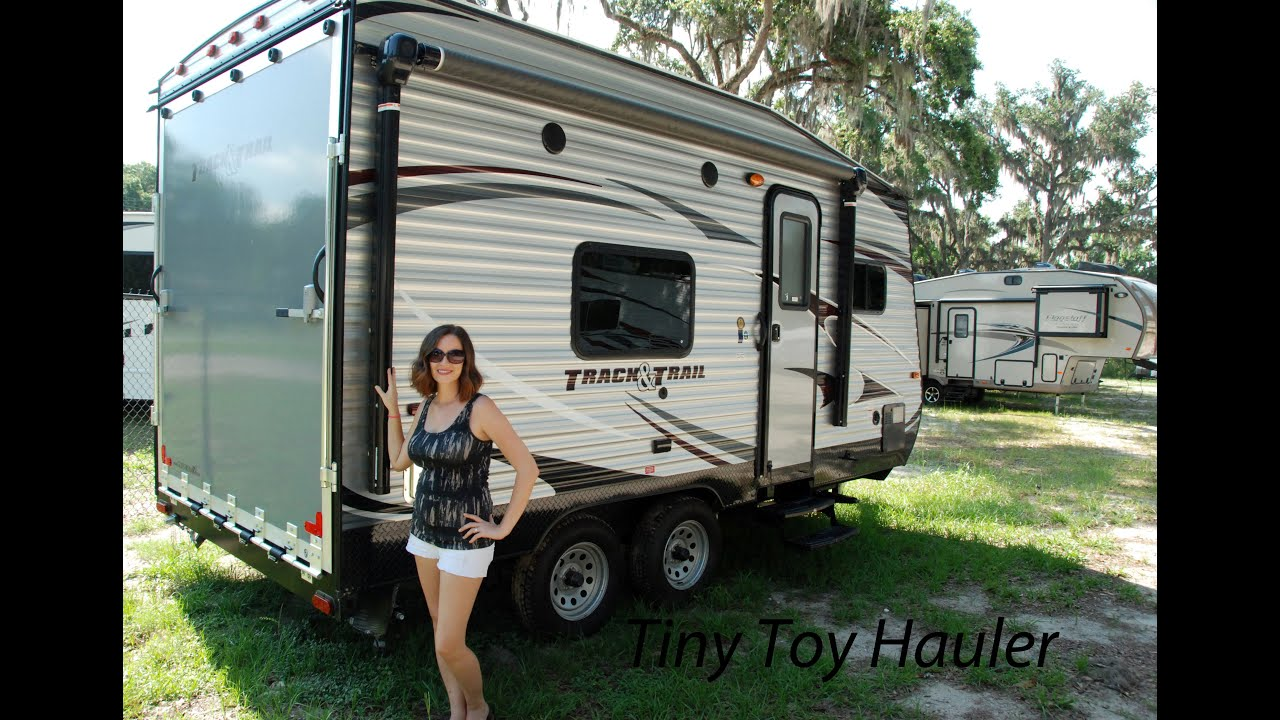 Small Toy Hauler Camper Trailers