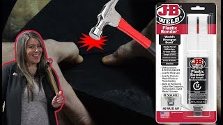 We Test out J-B Weld Plastic Bonder on an RV Holding Tank!