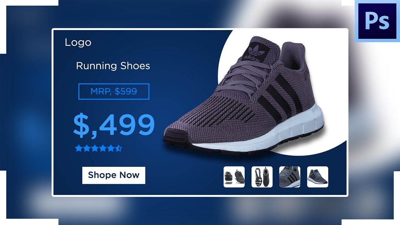 E-commerce Banner Design In Photoshop | Product Banner design in Photoshop | Banner design photoshop