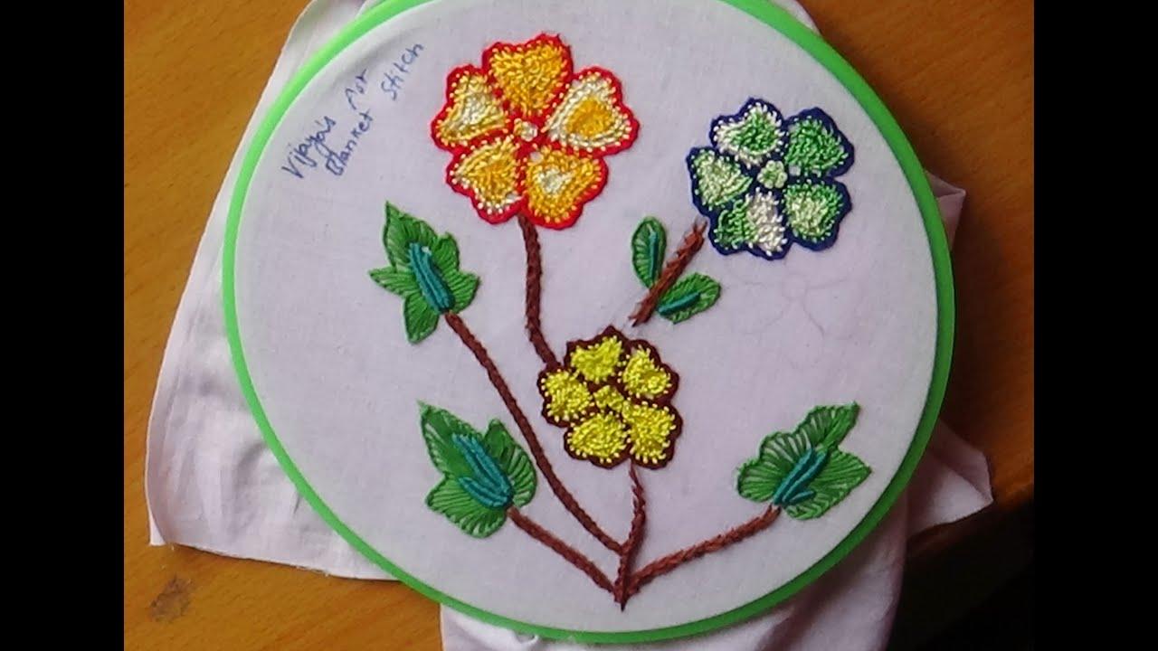 Hand Embroidery Designs 145 Net Blanket Stitch Design Youtube