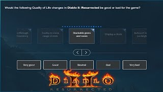 Blizzard Sent Out A New Diablo 2 Resurrected Beta Survey - Let's Answer it!
