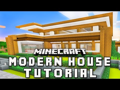 Minecraft Tutorial How To Make A Modern House Part 4 Roof Design Youtube