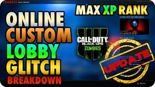 BO4 Zombie Glitches: Online Custom Mutations Lobby Glitch & Earn XP Update! - Black Ops 4 Glitches