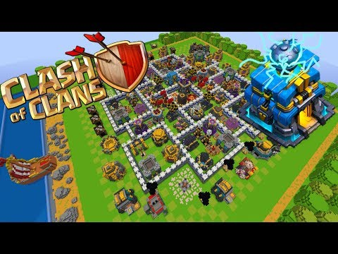 😱👉 Clash Of Clans En Minecraft Aldea De Nivel 12 😱 REVIEW Th 12