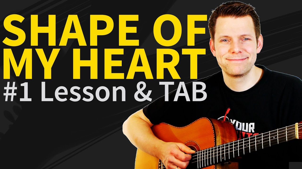 Download How To Play Shape Of My Heart Guitar Lesson & TAB - Sting & Dominic Miller