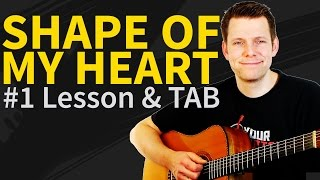 Guitar lesson & TAB - shape of my heart 1/3 - Sting - TAB in description - how to play intro&verse