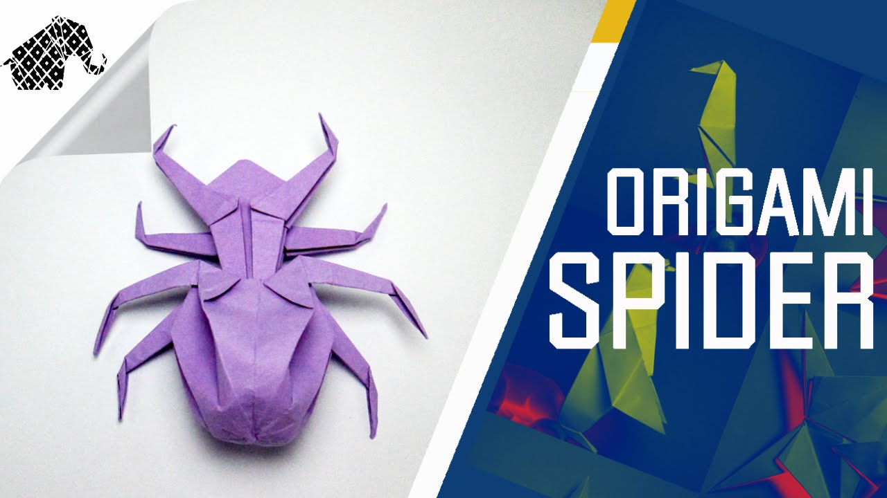 origami how to make an origami spider youtube