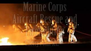 Marine Corps Air Station Cherry Point ARFF night fire training