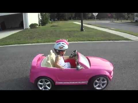 funny baby driving a barbie pink car youtube. Black Bedroom Furniture Sets. Home Design Ideas