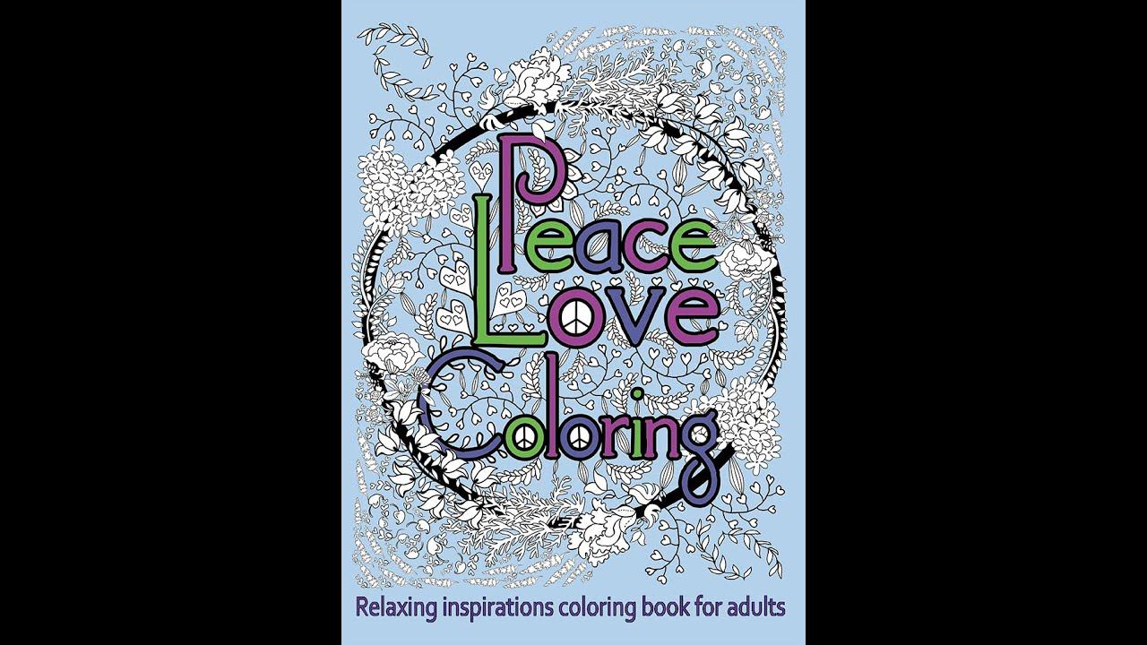 Peace Love Coloring Book Flip Through