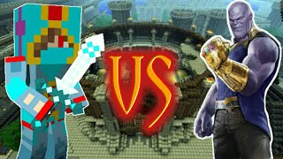 I Defeated The Mighty Thanos In Minecraft.[Avengers Infinity Wars Addon]