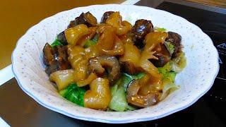 紅燒花膠海參伴生菜