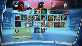 All the Super Hero Squad Game characters