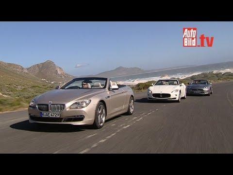 Bmw 650i Jaguar Xkr Maserati Grancabrio Drei Luxus Cabrios Youtube