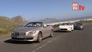BMW 650i, Jaguar XKR, Maserati GranCabrio - Drei Luxus-Cabrios