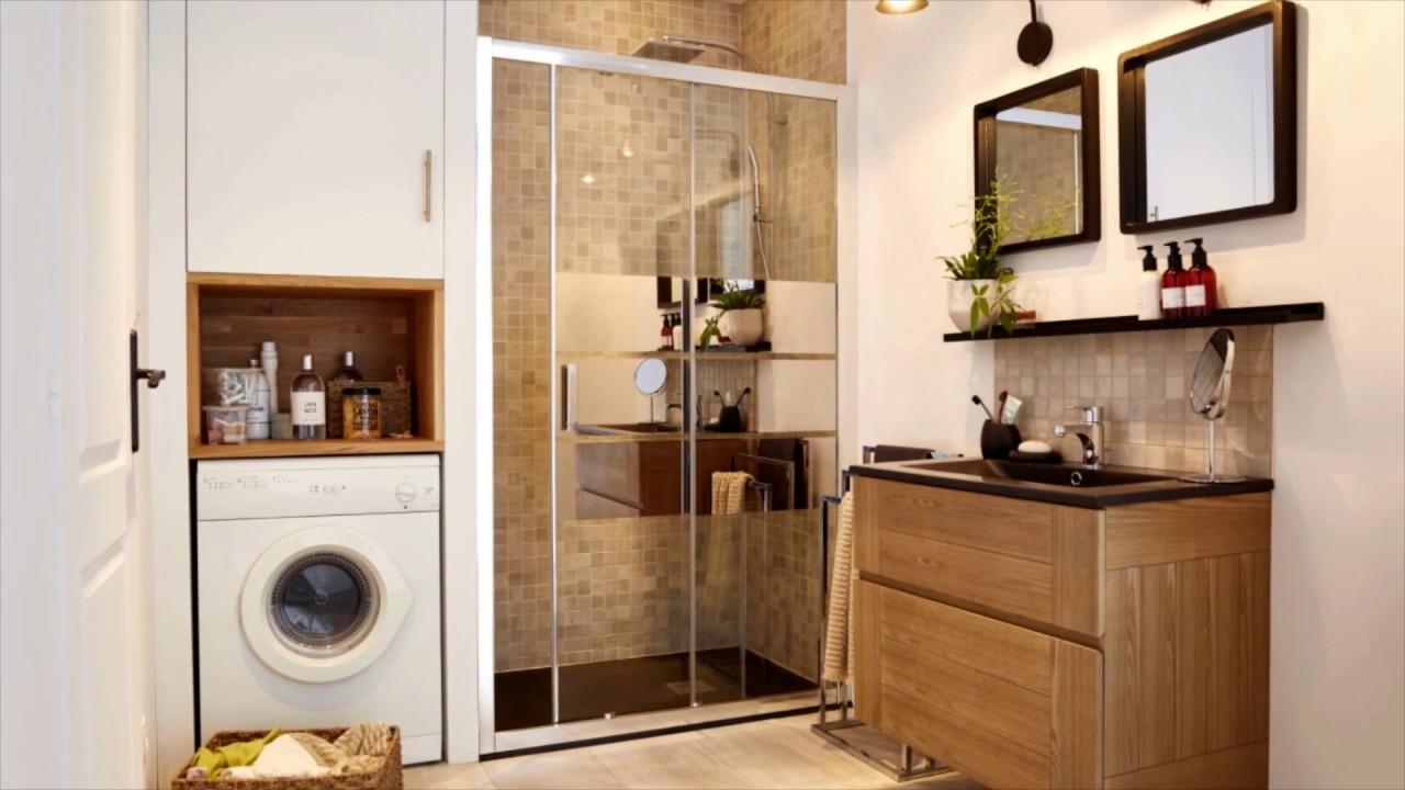 """Meuble Salle De Bain Pour Machine A Laver meuble sous-lavabo blanc l.60 cm """"ladoga"""" - goodhome"""