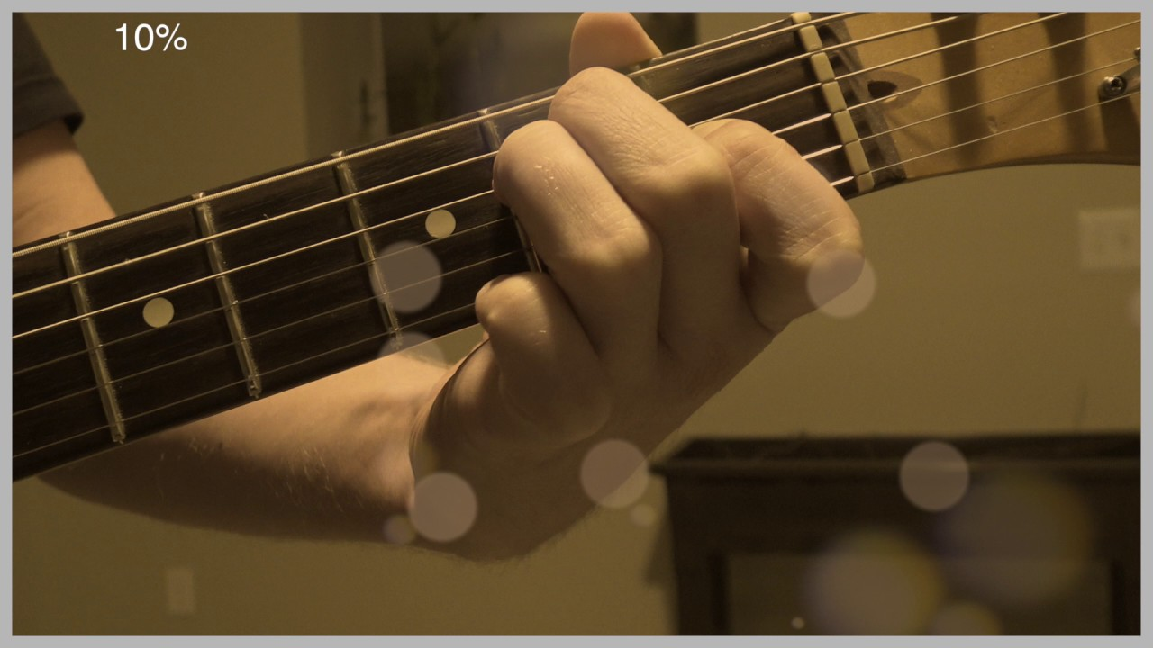 E Major Guitar Chord In Slow Motion Blade Speed Effect Youtube