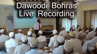 Dawoodi Bohras Success Training Live Recording