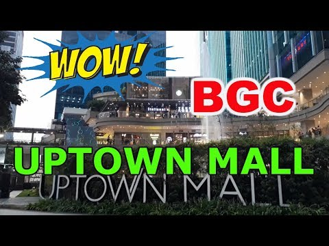 2018 Uptown Mall, walking tour in BGC, Taguig City Manila, Philippines