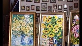 Под Славском открылась авторская выставка настоятельницы Свято-Елисаветинского монастыря
