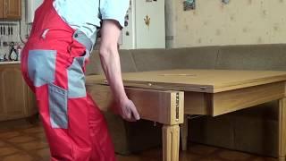 Интересный раскладной стол из дуба Interesting folding table of oak