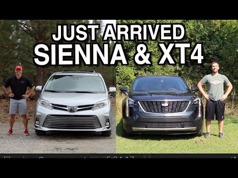 Just Arrived: 2020 Toyota Sienna and 2019 Cadillac XT4