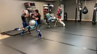 Teens Sparring Adults During STX Kickboxing Sparring Class | IronHide Academy. Leesburg, VA