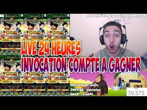 LIVE 24 HEURES INVOCATIONS COMPTE A GAGNER DOKKAN BATTLE !!!