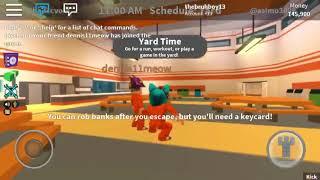 I kicked him the sever ! (Roblox jailbreak)