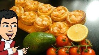 волованы с креветками , закуска на новый год рецепт от кулинарного Шоу Жарь Пей