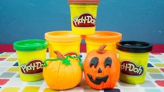 Halloween Play Doh Jack O Lantern Play-Doh Fall Pumpkin PlayDoh Tutorial