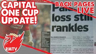 Capital One Cup Update! | Back Pages Live