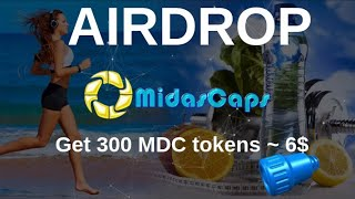 Airdrop MidasCaps Как получить 300 MDC tokens ~ 6$... #mdc #ethereum #airdrop