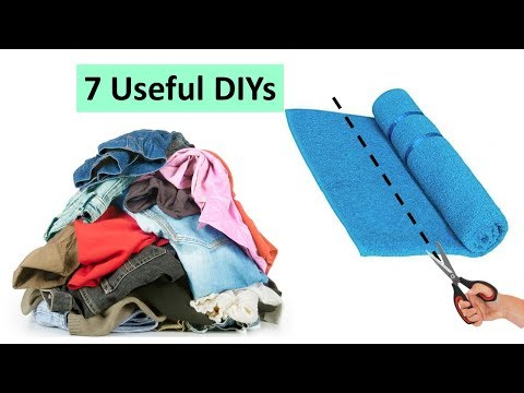7 Awesome and useful things to make from waste cloth and materials | Learning Process