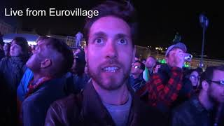 Reaction to Eurovision 2018's winner from Eurovillage