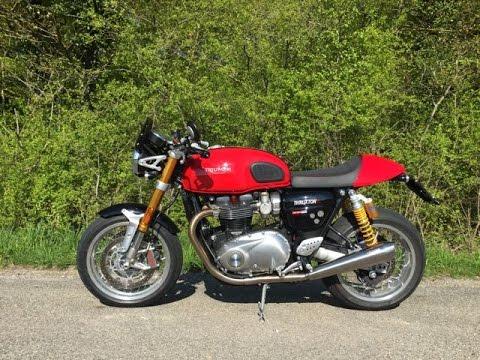 Triumph Thruxton R Café Racer Kit Vance & Hines Exhaust sound