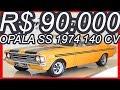 PASTORE R$ 90.000 #Chevrolet Opala SS 4100 1974 Coupé 250 Amarelo Cajú MT4 RWD 4.1 140 cv 26 kgfm