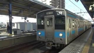 予讃線121系 高松行き 坂出駅発車