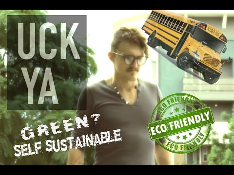 Living on an Eco-Friendly, Green, Self-Sustainable School Bus (by UCKYA)