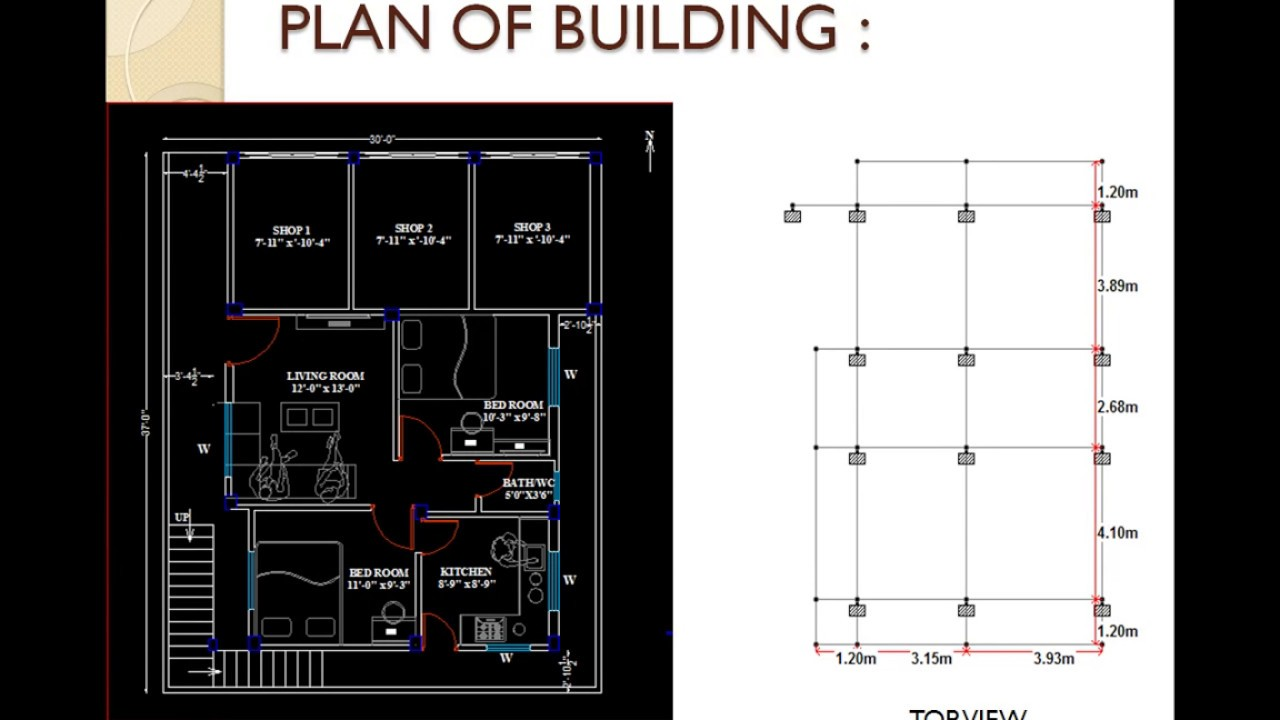 Analysis and design of G+1 Building on staad pro PPT